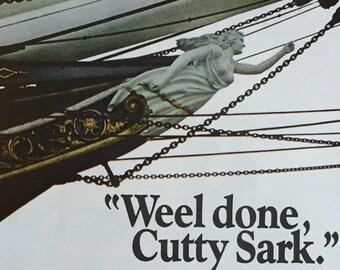 1971 Cutty Sark Scotch Whisky Print Ad - Bowsprit