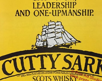 1979, 1980 Lot of 2 Cutty Sark Scotch Whisky Print Ad