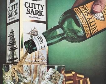 1980 Cutty Sark Scotch Whisky Print Ad
