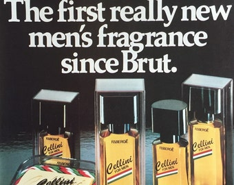 1981 Faberge Cellini Men's Fragrance Print Ad