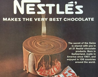 1967 Nestle's Milk Chocolate Print Ad