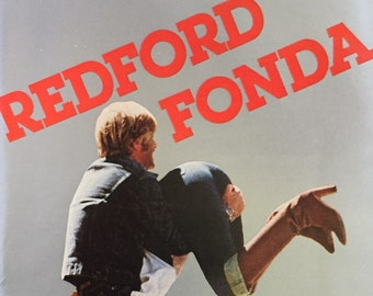 "1980 Electric Movie Print Ad starring Robert Redford and Jane Fonda - ""Redford Fonda"""