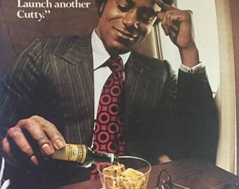 1974 Cutty Sark Scotch Whisky Print Ad - Vintage Scotch Ad