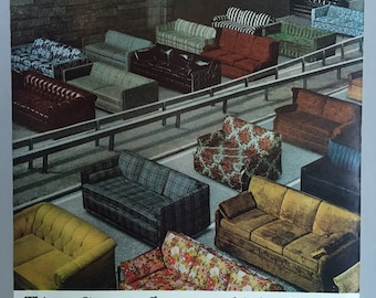1968 Simmons Hide A Bed Sofa Print Ad Etsy