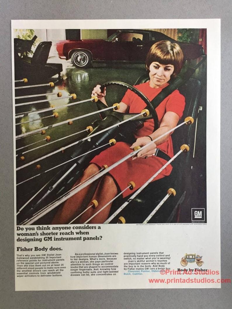 1969 General Motors Body by Fisher Print Ad - Joan Gatewood