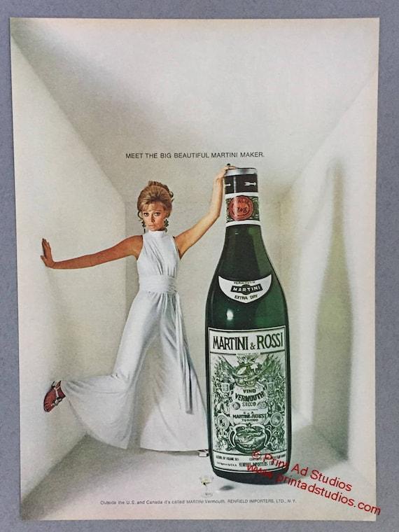 1970 Martini Rossi Vermouth Print Ad