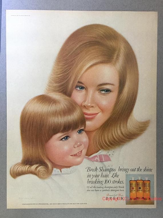 Prime 1967 Breck Shampoo Print Ad 1960S Hairstyles Vintage Etsy Schematic Wiring Diagrams Amerangerunnerswayorg