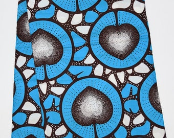 Glowing hearts - African Wax Print Fabric (Sold by the yard)