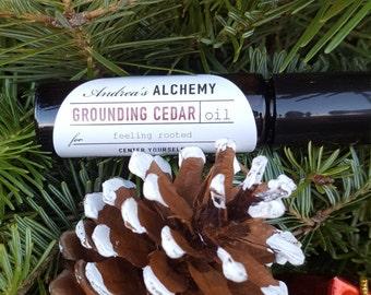 Grounding Cedar Oil