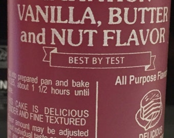 Vanilla Butter and Nut Flavoring