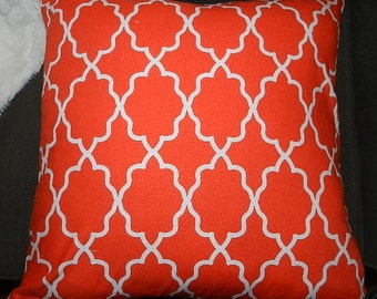 7 Sizes Available - Moroccan Lattice Clementine  Pillow Cover