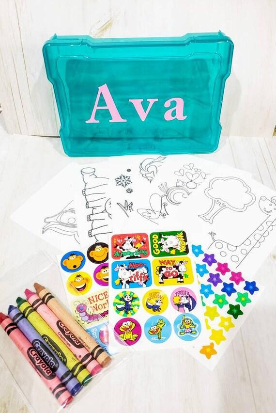 Kids Coloring Kit, Travel Activity Kit, Child Activity Kit, Kids Activity  Box, Child Coloring Set, Child Activity Set, Personalized Child