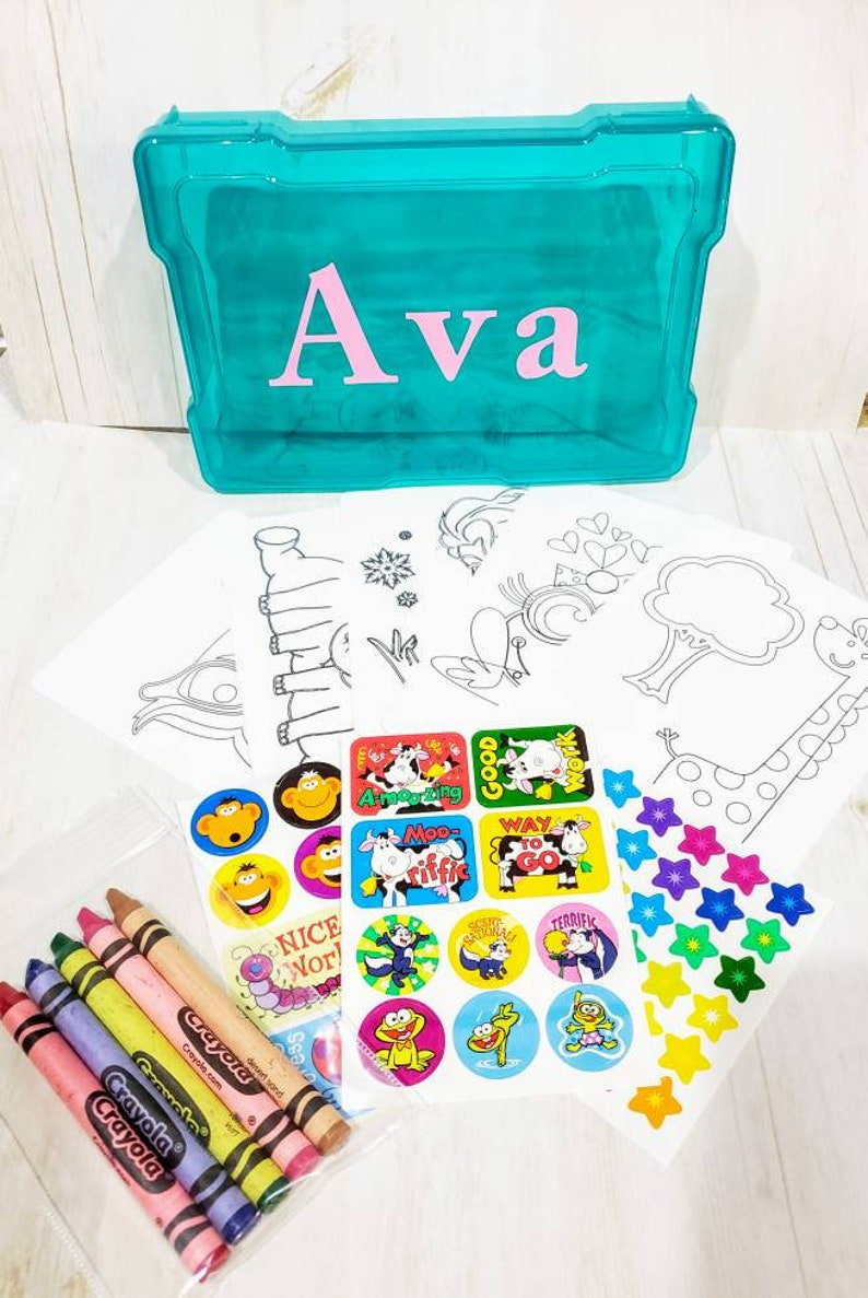 Kids Coloring Kit, Travel Activity Kit, Child Activity Kit, Kids Activity  Box, Child Coloring Set, Child Activity Set, Personalized Child