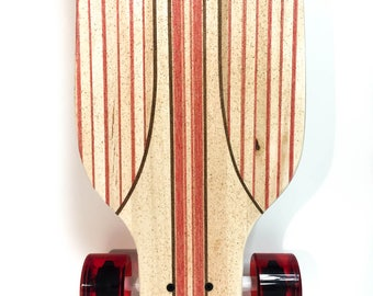 Handcrafted Custom Red infused Longboard Skateboard