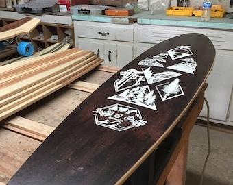 Handcrafted Wood Longboard
