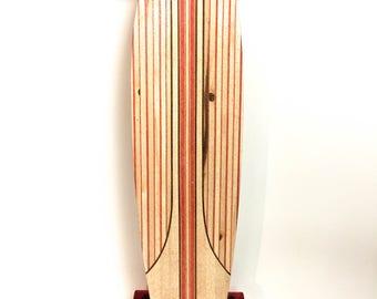 Handcrafted infused Fishtail Longboard Skateboard