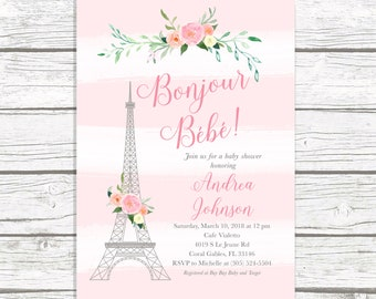 Paris baby shower etsy paris baby shower invitation french baby shower invitation bonjour bebe baby shower invitation eiffel tower baby shower parisian themed filmwisefo