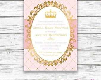 Princess Baby Shower Invitations Etsy