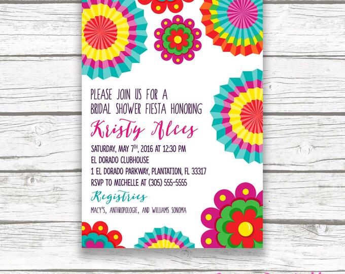 Fiesta Bridal Shower Invitation, Fiesta Invitation, Mexican Bridal Shower Invitation, Cinco de Mayo, Mexico Invitation, Printable Invite
