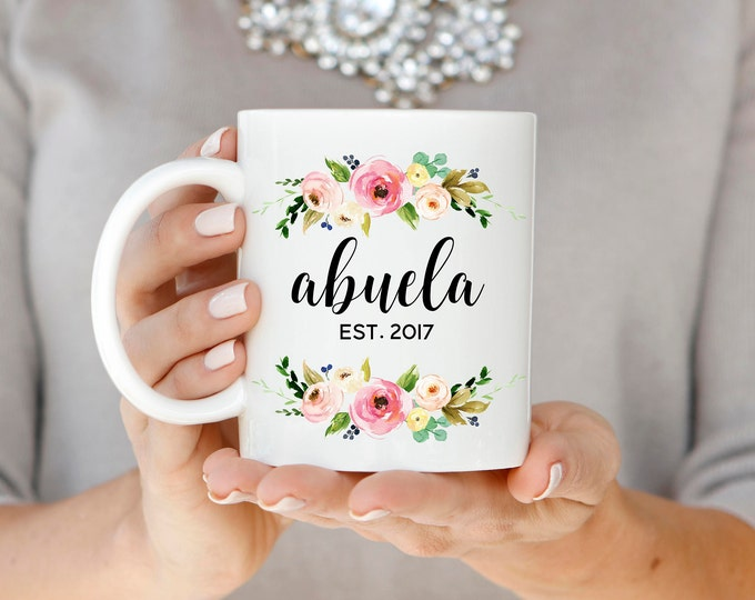 Abuela Mug, Abuela Est. Mug, Abuela Established Mug, Pregnancy Announcement, Grandma Gift, Abuela Coffee Mug, Mother's Day Gift for Mom
