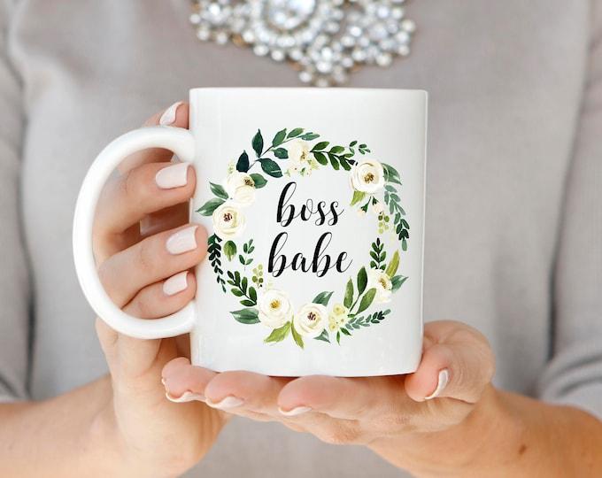 Boss Babe Mug, Gift for Boss, Boss Babe Coffee Mug, Coworker Gift, Christmas Gift, Best Friend Gift, Graduation Gift, Promotion Gift