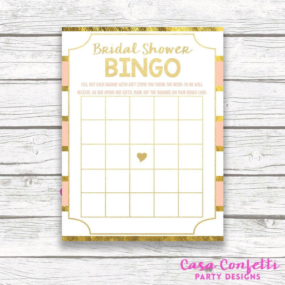 peach and gold foil bridal shower bingo card floral bridal shower bingo printable bridal shower games bingo game printable card