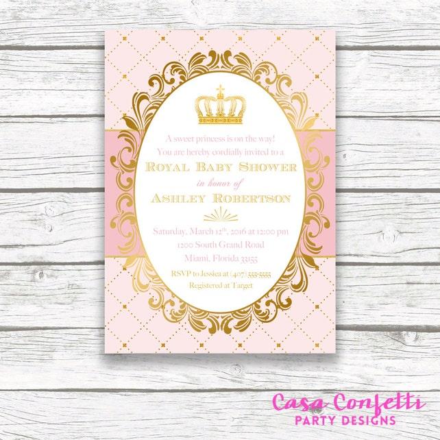 Princess baby shower invitation royal baby shower invitation etsy image 0 filmwisefo