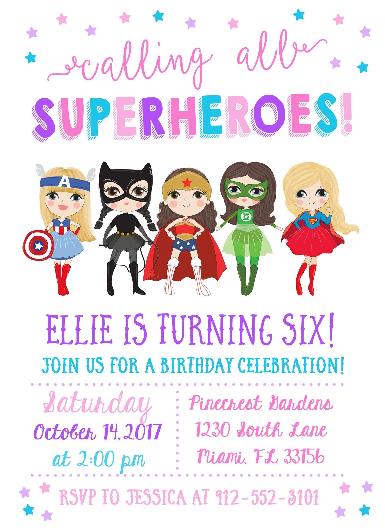 girl superhero invitation superhero birthday invitation girl