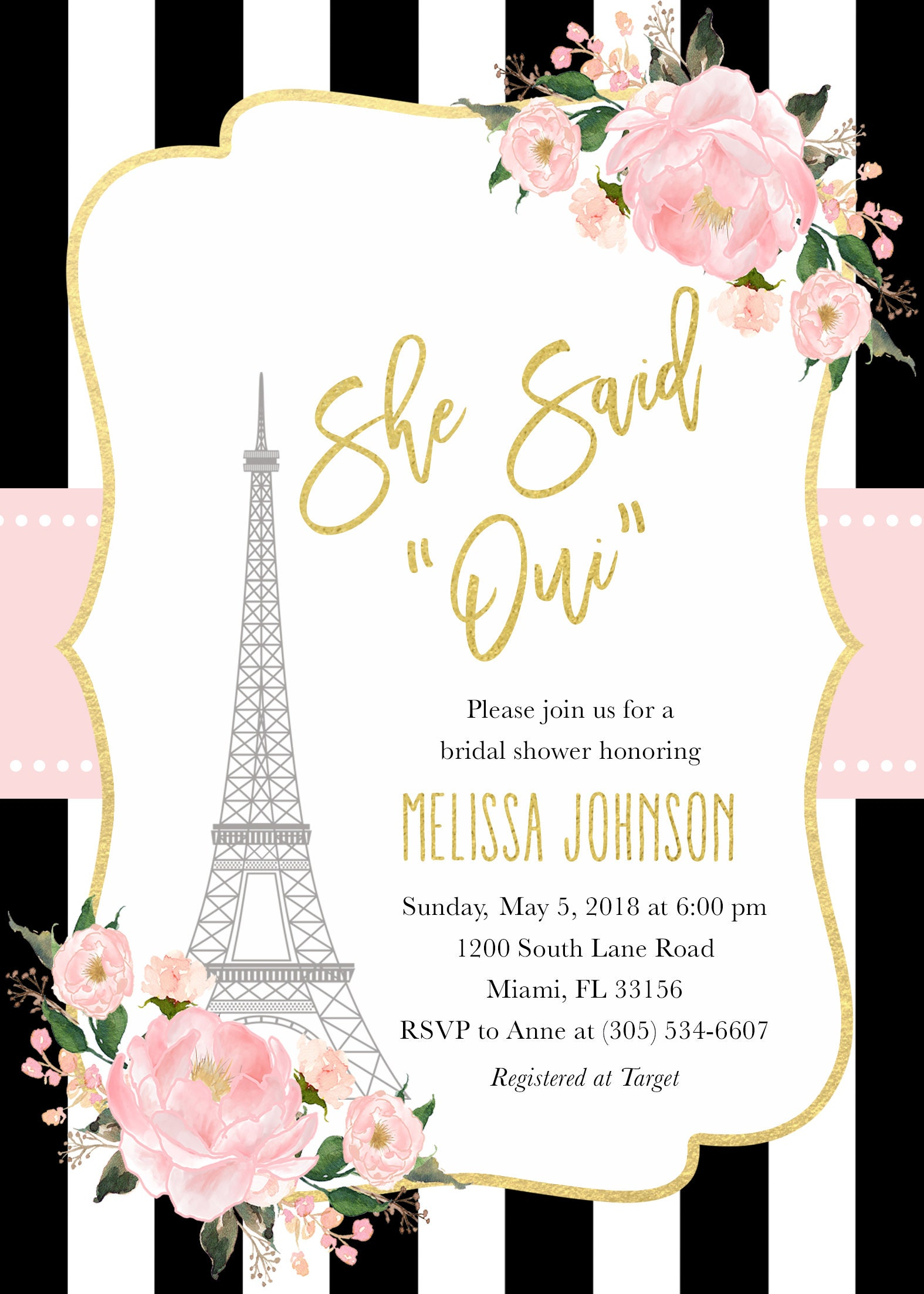paris bridal shower invitation french bridal shower invitation eiffel tower bridal shower invitation she said oui parisian invite