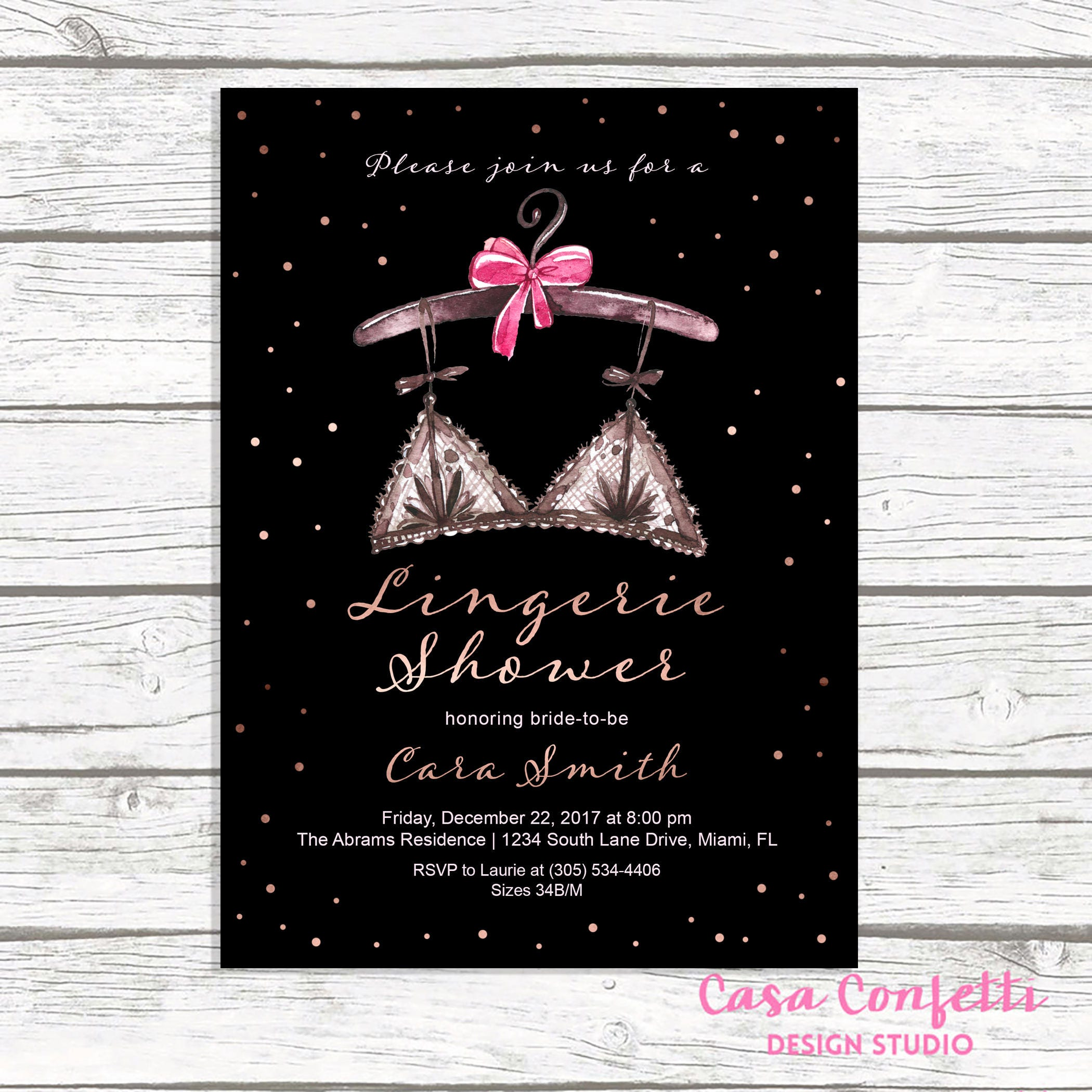 lingerie shower invitation lingerie bridal shower invitation rose gold bridal shower invitation ooh la la lingerie shower printable