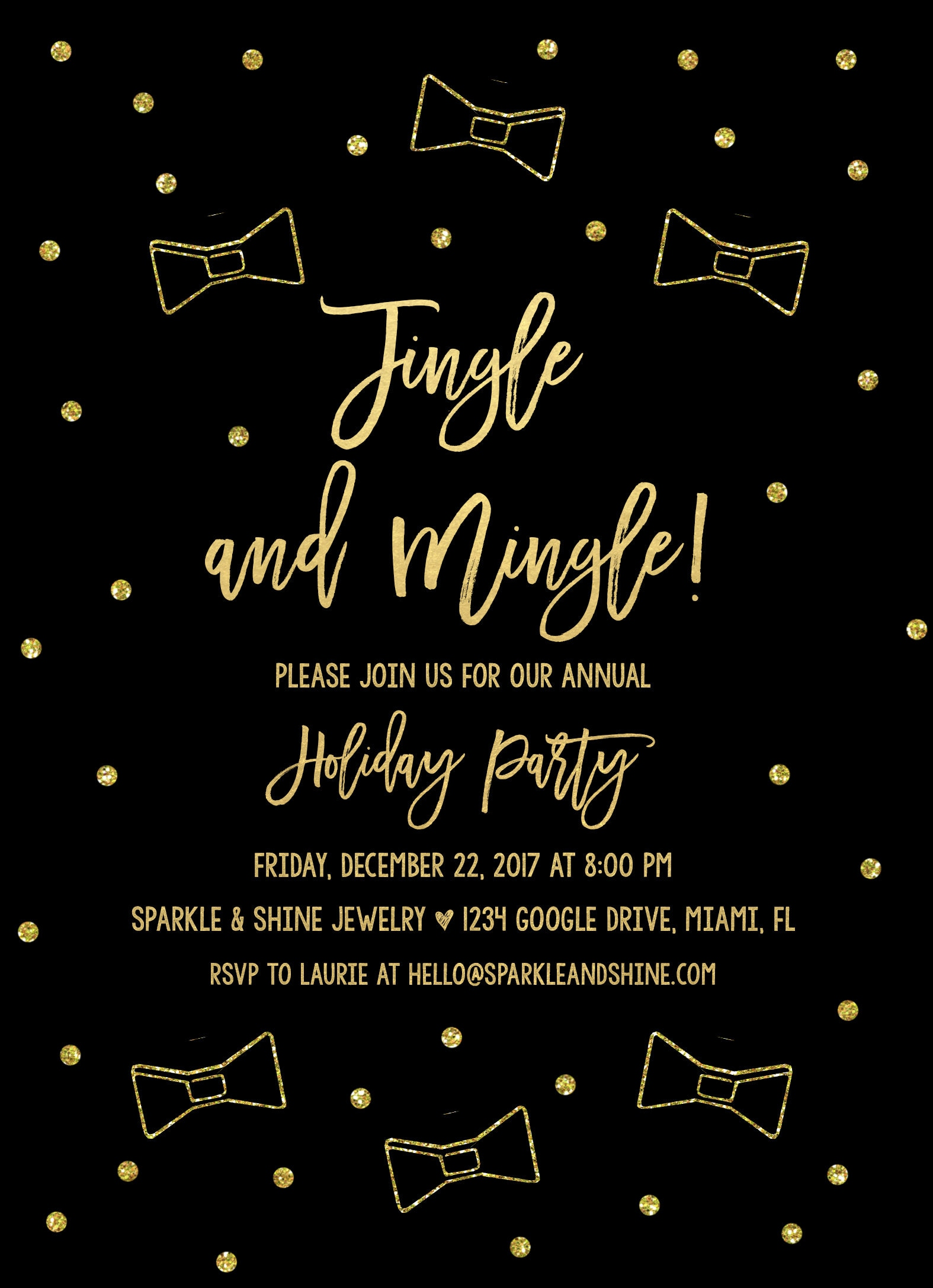 Office Holiday Party Invitation, Jingle and Mingle Invitations ...