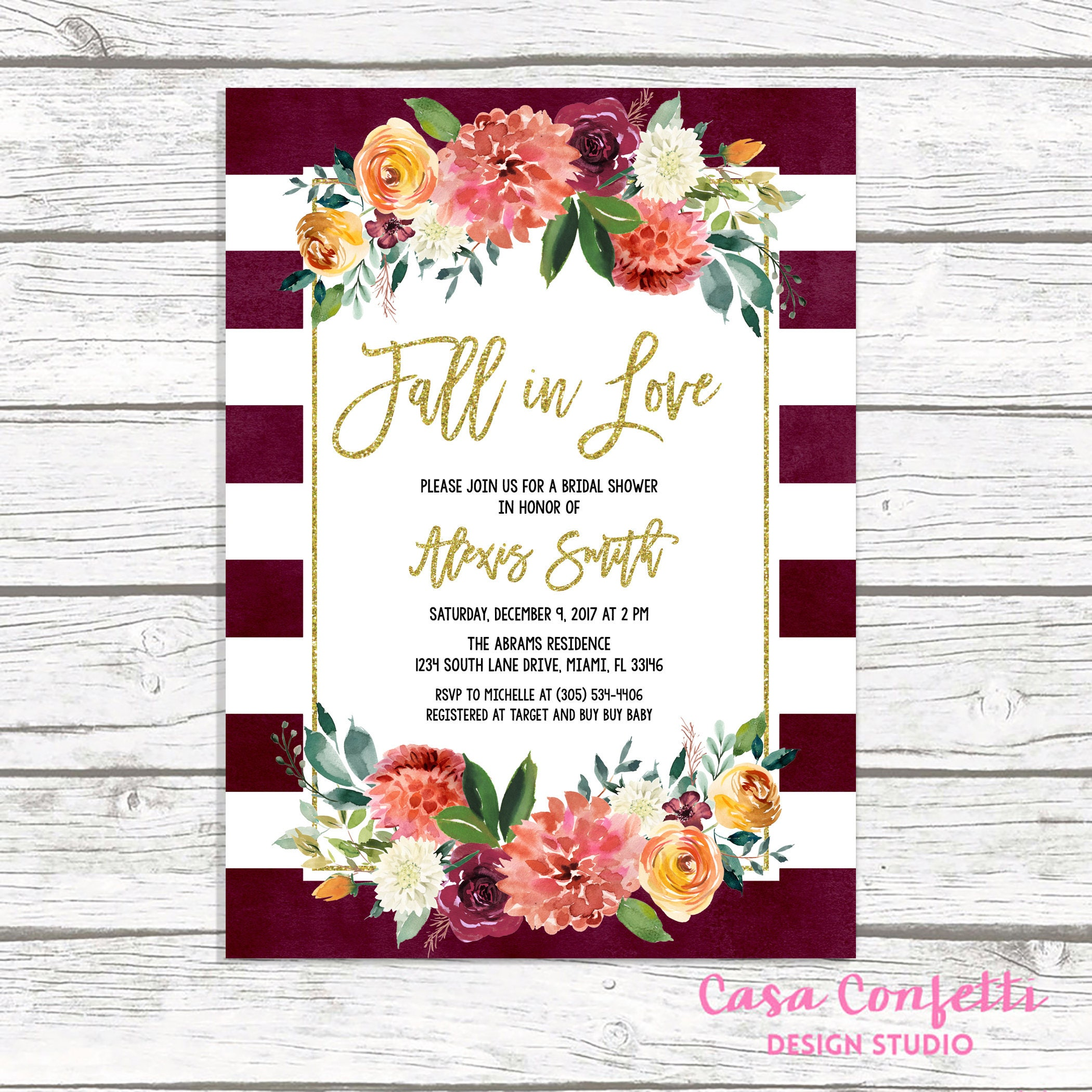 fall in love bridal shower invitation marsala bridal shower invitation burgundy bridal shower invitation fall bridal shower invite
