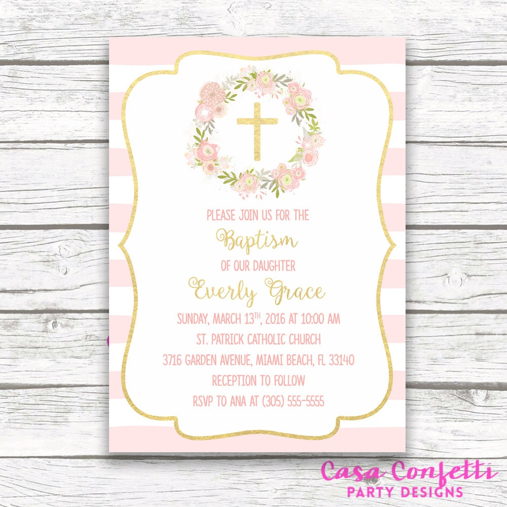 baptism invitation girl christening invitation girl first