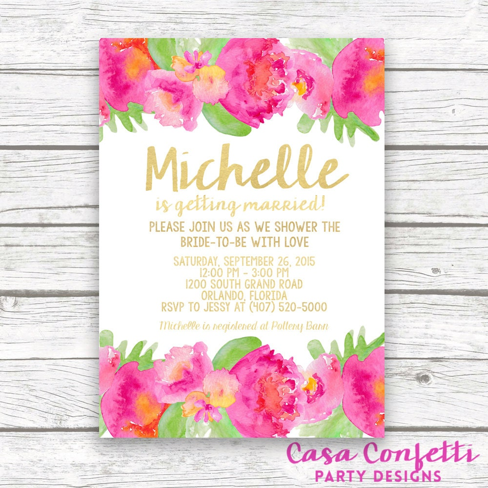 Tropical bridal shower invitation luau bridal shower invitation tropical bridal shower invitation luau bridal shower invitation garden bridal shower invitation hot pink bridal shower printable invite filmwisefo