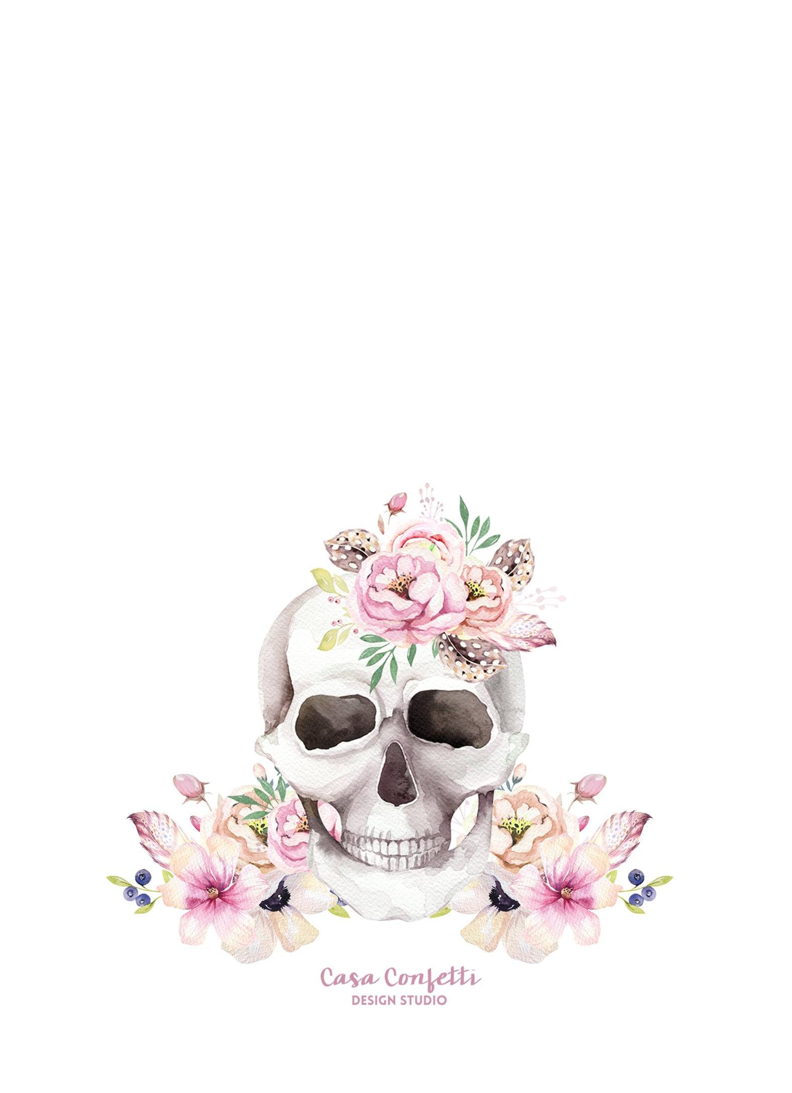 Dia de los Muertos Invitation, Day of the Dead Invitation, Sugar ...