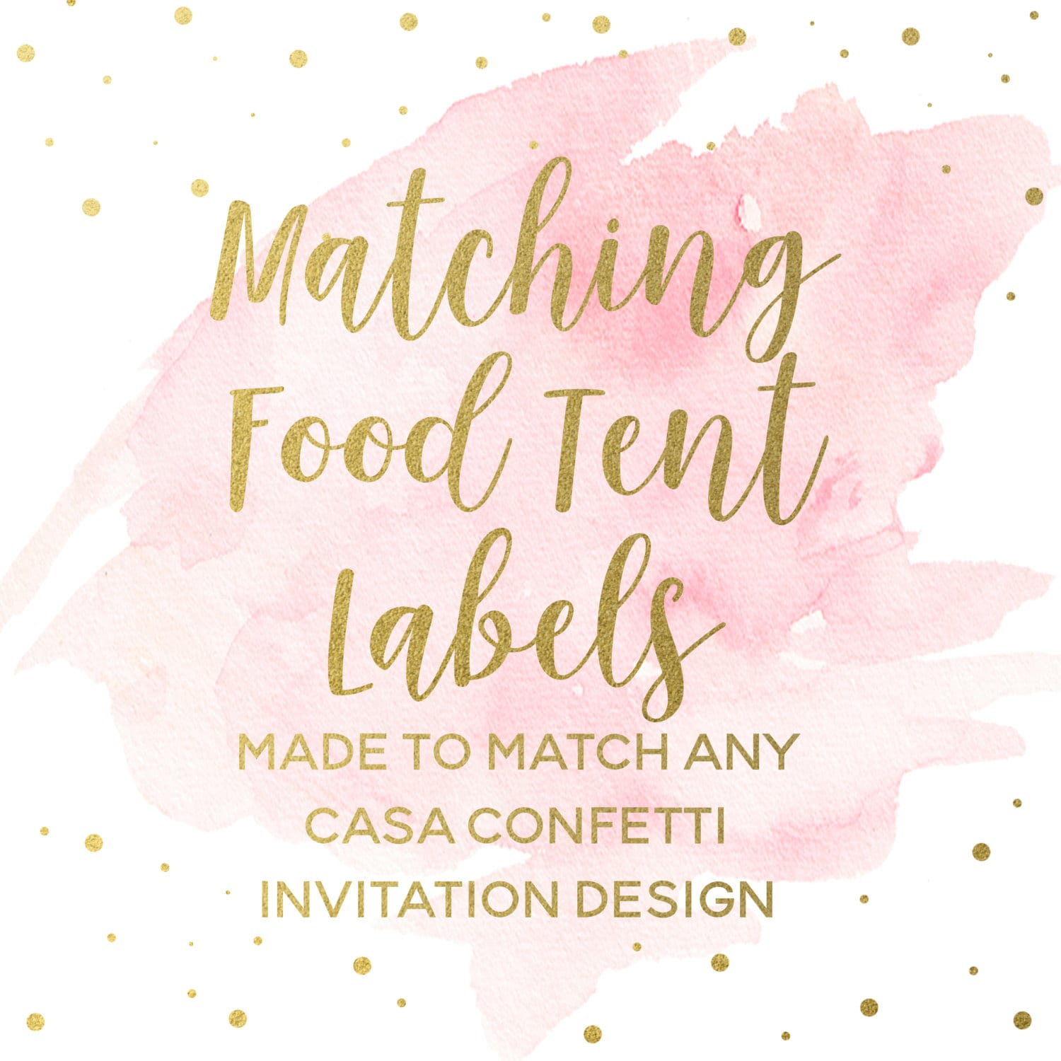 matching food tent labels for any design custom baby shower