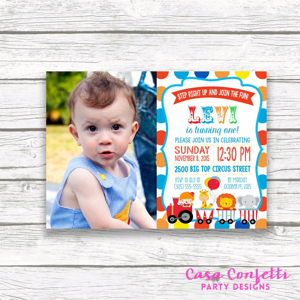 First 1st Birthday Printable Invitation Matching Back Gallery Photo