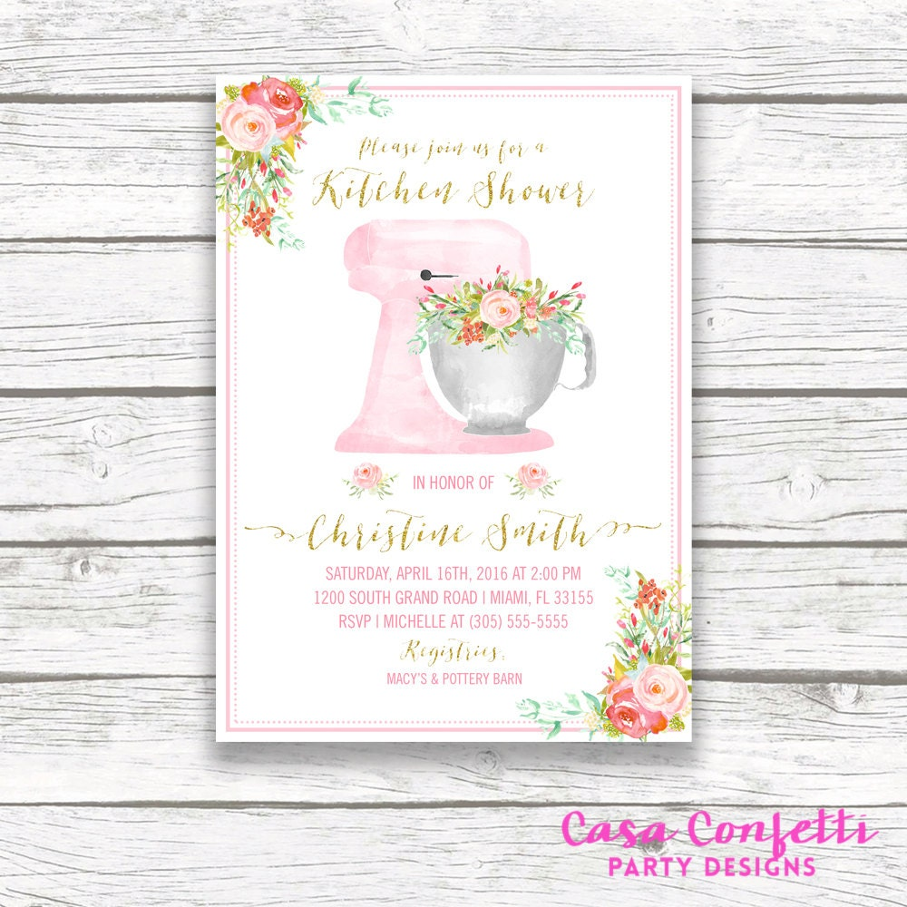 kitchen bridal shower invitation kitchen shower invitation cooking bridal shower stand mixer boho watercolor wedding shower printable