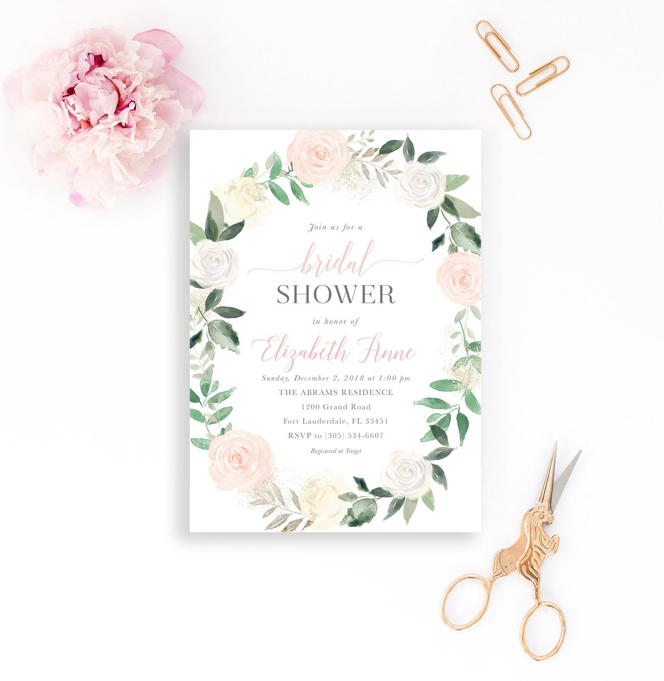 Bridal shower invitation blush bridal shower invitation garden bridal shower invitation blush bridal shower invitation garden bridal shower bridal shower brunch pink floral bridal shower invitation filmwisefo