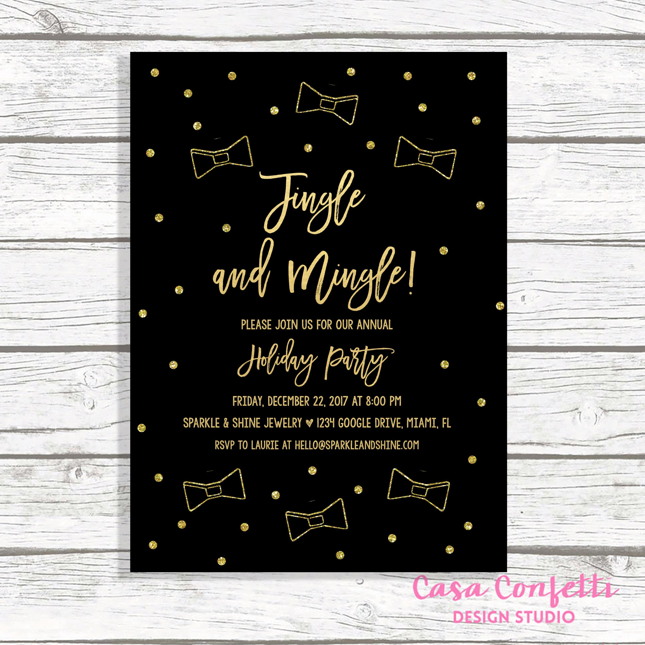 Office Christmas Party Invitation.Office Holiday Party Invitation Jingle And Mingle Invitations