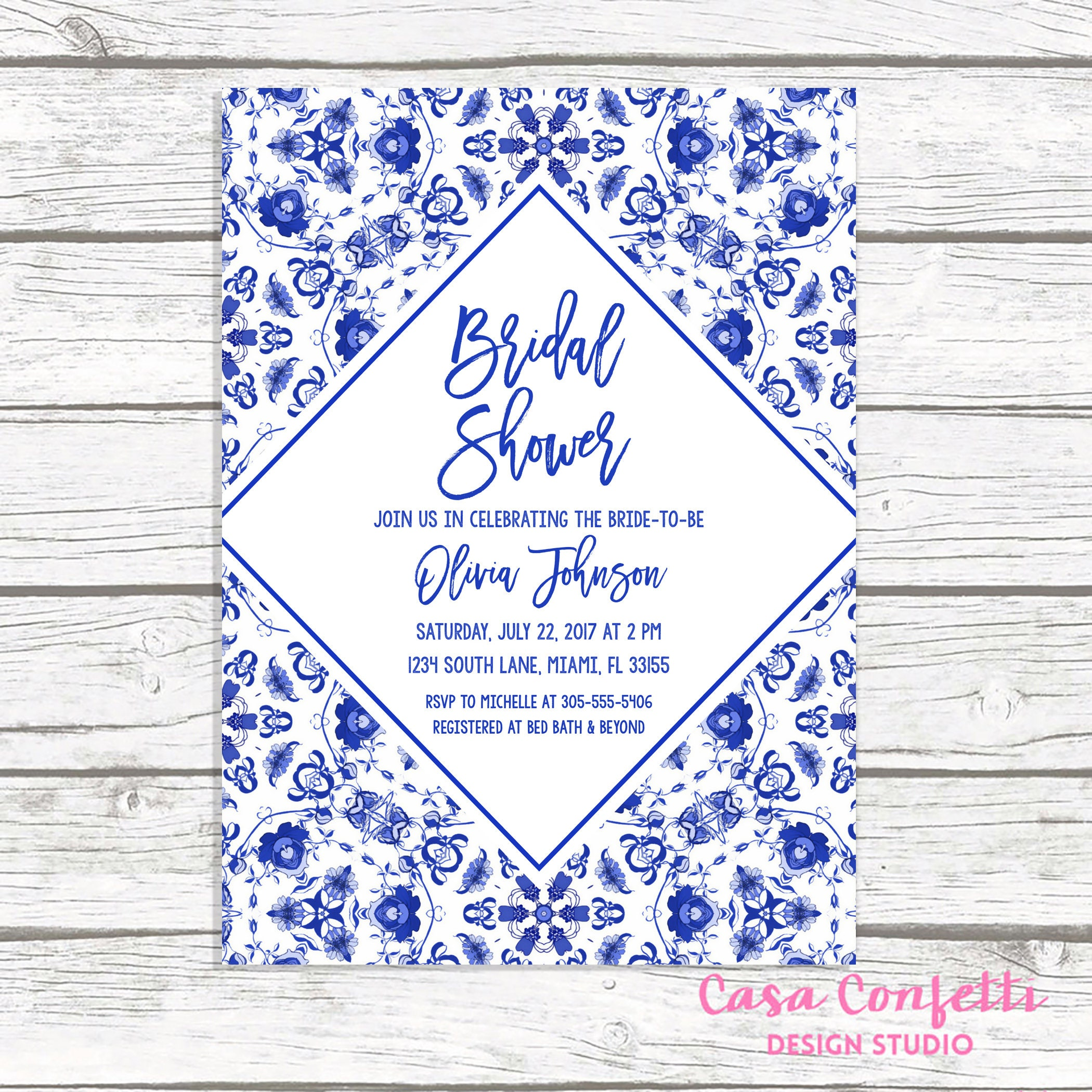 blue bridal shower invitation bridal shower brunch invitation blue and white bridal shower invitation chinoiserie bridal shower invite