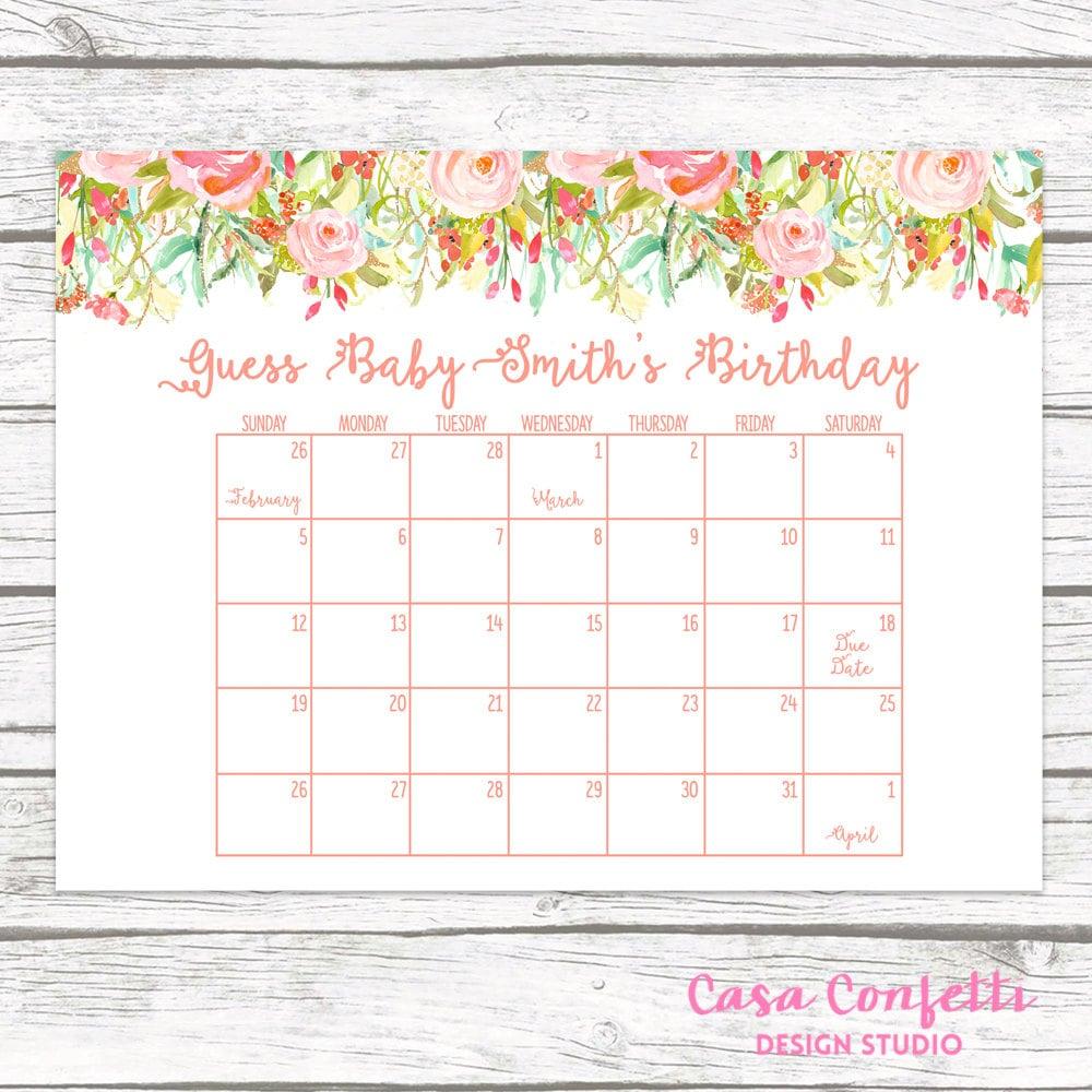 photo regarding Free Printable Due Date Calendar named Thanks Day Calendar, Bet Babys Thanks Day, Kid Shower