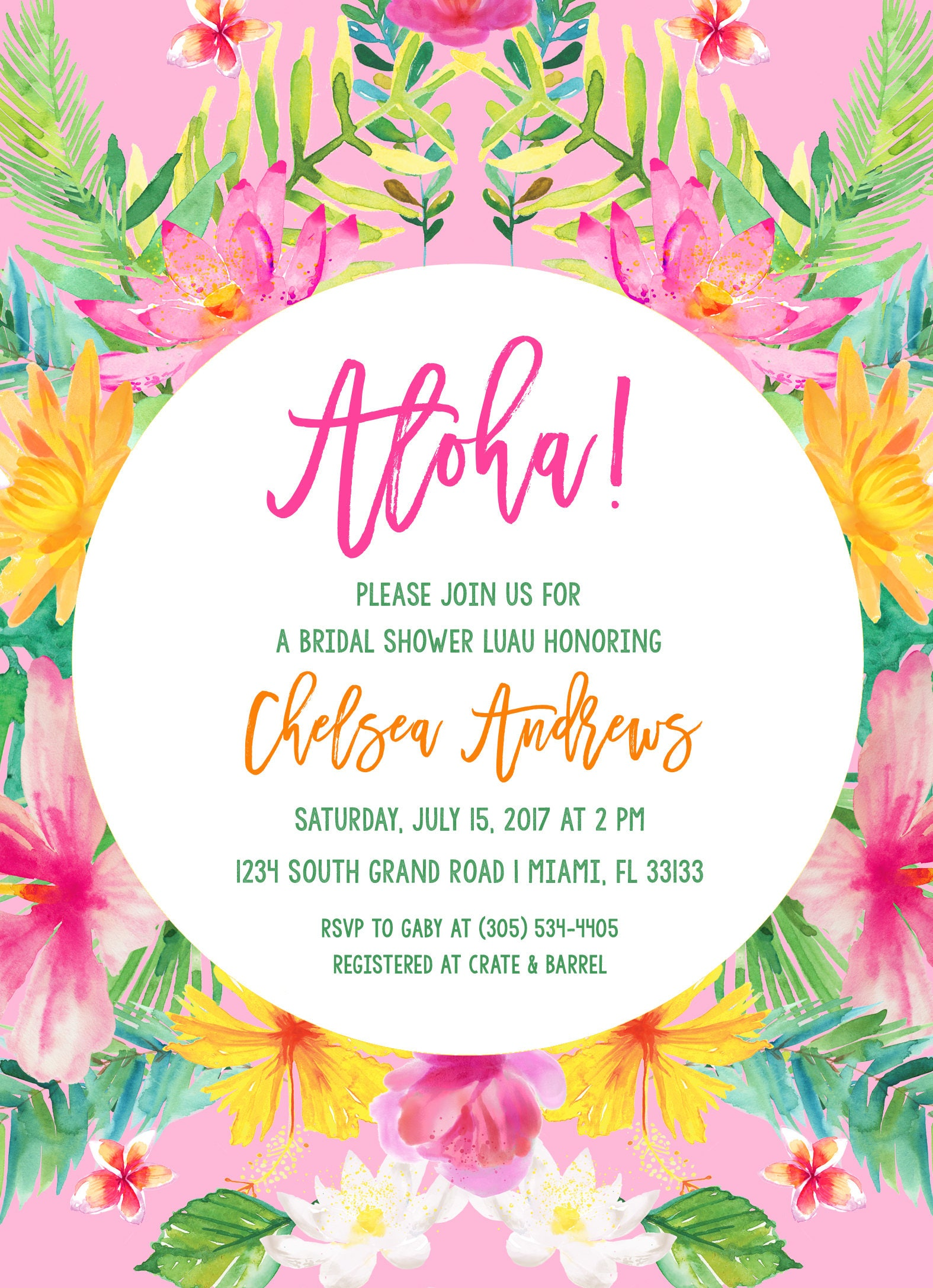 Tropical bridal shower invitation luau bridal shower invitation tropical bridal shower invitation luau bridal shower invitation aloha bridal shower invite tropical wedding hawaiian printable invite filmwisefo