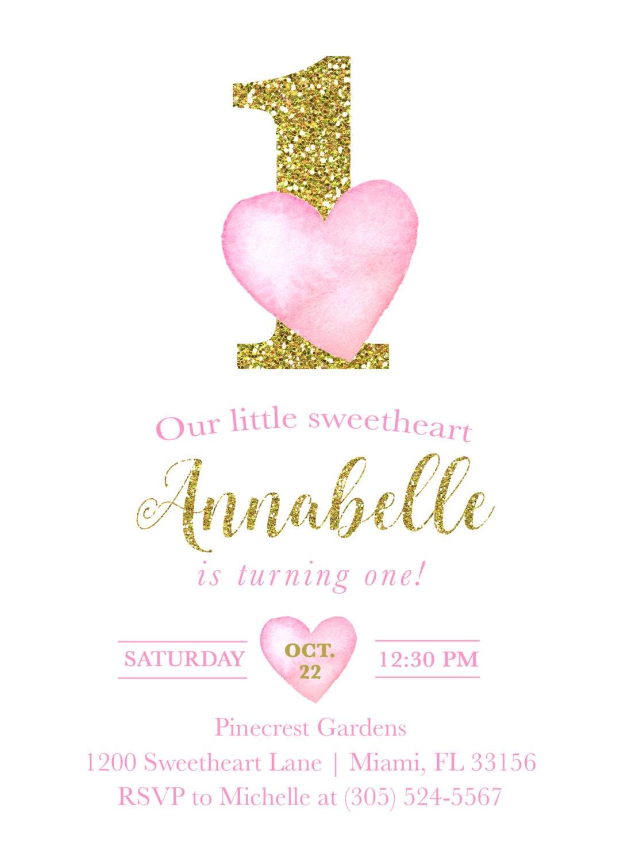 Valentines Day Birthday Invitation Heart Birthday Invitation Pink And