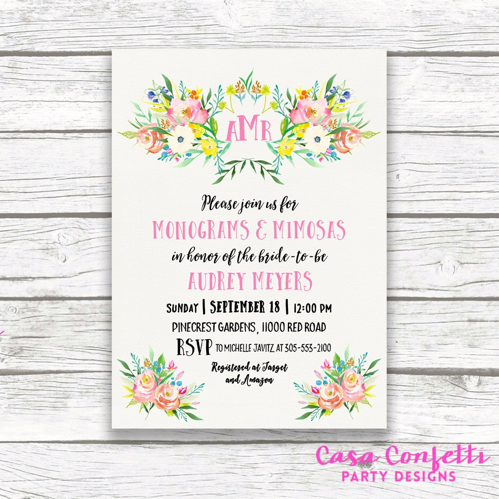 b0c05451591b ... Monograms and Mimosas Bridal Shower Invite