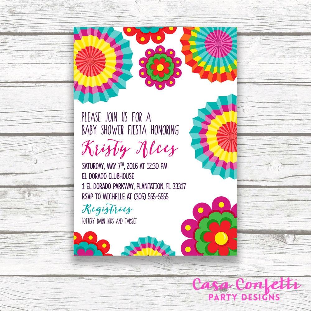 Fiesta Baby Shower Invitation Cinco De Mayo Baby Shower Invitation