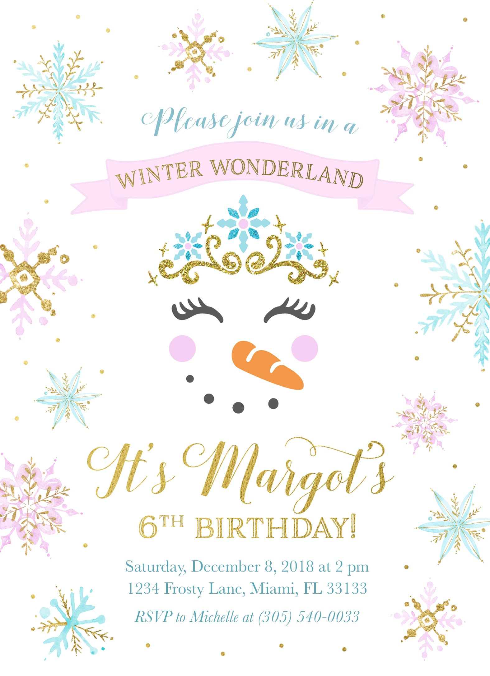 snowman invitation winter wonderland invitation winter birthday