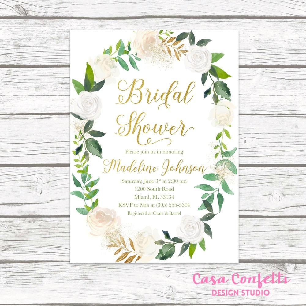 Bridal Shower Invitation, Bridal Shower Brunch Invitation, Bridal ...