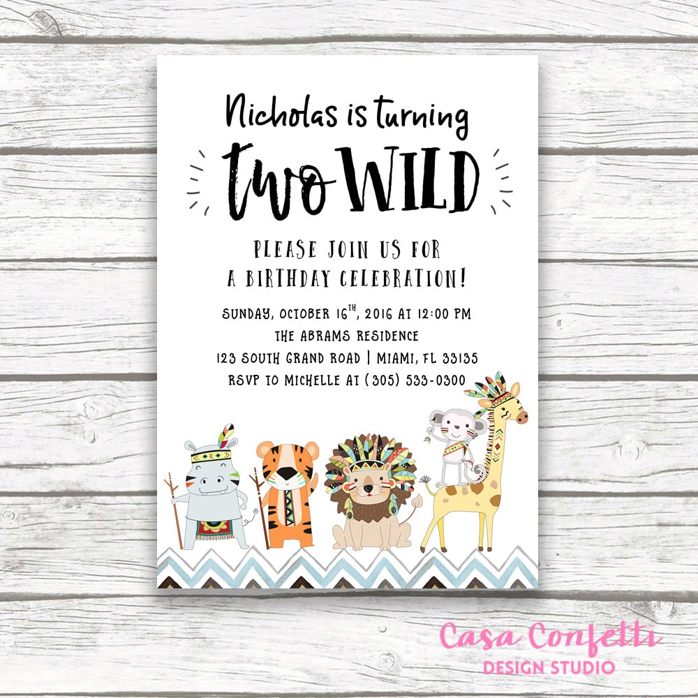 Zoo Invitation 2nd Birthday Boy Gallery Photo