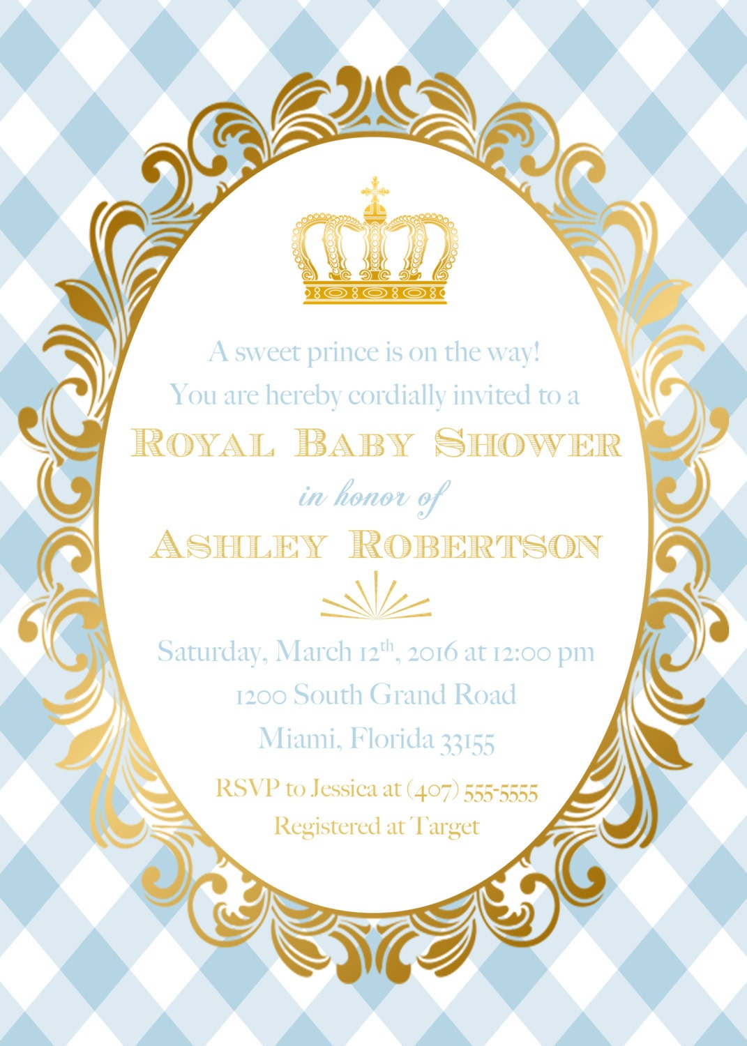 Prince baby shower invitation royal baby shower gold foil crown prince baby shower invitation royal baby shower gold foil crown royal baby boy invite light blue prince printable invitation filmwisefo